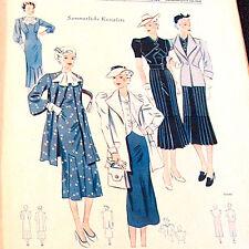 Modezeitschrift PRAKTISCHE MODE 2/1937-2 Schnittmuster-Bg 30er 40er Jahre SOMMER