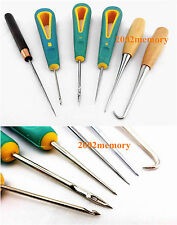 6 Pcs Leather Craft Sewing Stitching Awl Tool Kit Set NEW