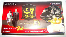Box of  21 Packs x 16g - G7 Instant 3 in1 Trung Nguyen: Famous Vietnamese Coffee