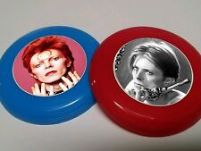 12 DAVID BOWIE mini frisbees birthday party favor, treat bags, prizes, awards
