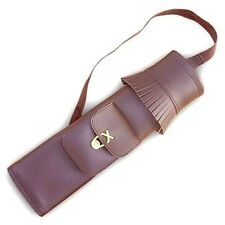 TRADITIONAL BACK ARROW QUIVER SYNTHETIC LEATHER SAQ139 BROWN