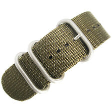 18mm deBeer Ballistic Nylon Green UTC Military One-Piece Dive Watch Band Strap