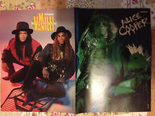 MILLI VANILLI / ALICE COOPER SYLVESTER STALLONE - DOUBLE-SIDED POSTER FROM BRAVO