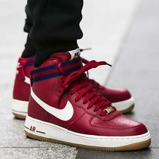 Nike Air Force 1 de alto'07 Botas Zapatillas Hi Tops AF1-UK Size 10 (EUR 45) rojo