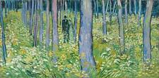 TWO FIGURES IN FOREST, Vincent Van Gogh Repro Rolled CANVAS PRINT 44x24 in.
