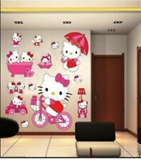 LARGE HELLO KITTY WALL STICKERS FOR KIDS CHILDREN BEDROOM WALL ARTS DECALS PP