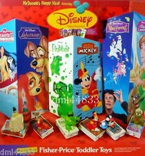 1998 McDonalds Disney Video Favorites MIP Complete Set, Boys & Girls, 3+