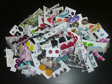 WHOLESALE LOT OF ** 100 PAIRS ** STUD EARRINGS , ALL NEW , FASHION JEWELRY