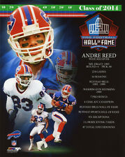 Buffalo Bills ANDRE REED Glossy 8x10 Photo NFL 2014 Hall of Fame Print Poster