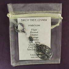 BIRCH TREE CHARM Amulet Talisman New Beginnings Symbol Celtic Magick Pagan Wicca