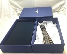 NEW Blue Box Swarovski Crystal Tayla Tassel Leather Keychain Key Ring AUTHENTIC