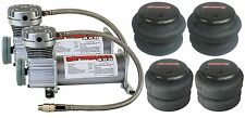 Air Ride Suspension Parts Pewter Air Compressors Four Air Bags Starter Package