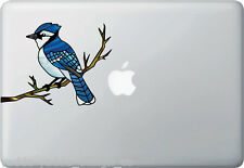 "CLR:MB - Blue Jay Stained Glass Vinyl Decal for Laptops etc ©YYDC (6""w x 4.5""h)"