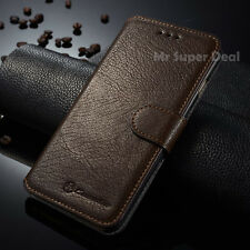 iPhone 6 6s Plus Handy Leder Synthetisch Tasche Etui Flip Case Cover Hülle Braun