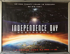 Cinema Poster: INDEPENDENCE DAY RESURGENCE 2016 (Advance Quad) Liam Hemsworth