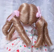 MONIQUE - MELODY - Doll Wig Size 12-13 BLONDE - Long Ringlet PIGTAILS & Bangs