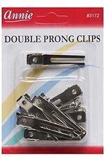 Annie Double Prong Clips Metal Curl Hair Accessories Claw Alligator Bows #3172