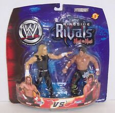 "2002 Jakk's WWE Rigside Rivals ""Test"" vs ""Tajiri"" Action Figure Set WWF[1493}"