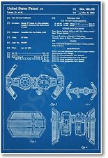 Star Wars Tie Bomber Patent - NEW Invention Patent Movie Art POSTER