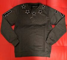 BNWT Givenchy 47 Stars Embroidery Anthracite Grey Jumper/Sweater,100% Cotton, XL