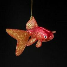 "NB0729 Noble Gems 5"" GoldFish Glass Christmas Ornament Nautical Ocean Beach Fish"