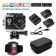 """SJ8000 2.0"""" 1080P 4K Wifi Action Sports Camera+Remote+Battery Charger Kit+Case"""