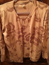 saks fifth avenue Belford Exclusive Twin Set In Silk Blend Size L