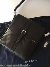 NWT Cole Haan Brown Pebble Leather N/S Messenger Shoulder Bag Crossbody A11414