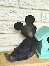 Vintage Style Bear Pattern  With Mickey Mouse Hat 7,5  Inch