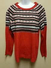 NWT Rue 21 XL red white black striped crew neck sweater soft warm acrylic light