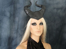 MALEFICENT HORN HOOD MASK - Female Latex Maske Halloween Haube Hörner Fantasy
