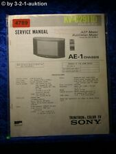 Sony Service Manual KV C291D Color TV (#4789)