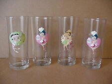 BETTY BOOP GLASSES HI-BALL 4 PIECE SET (NEW IN BOX)