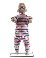 Lil Walker Standing Zombie Baby Animated Halloween Decoration Animatronic Prop
