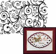 Embossing Folder swirl VINE PATTERN by DARICE 1219-136 NEW Cuttlebug Compatible