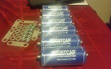 Lot of 6 Maxwell Ultra Capacitor BoostCap 2.7V 3000F Farad  BCAP3000 w/ Hardware