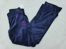 NWD GIRLS PUMA VELOUR PANTS BLUE SIZE L