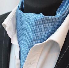 Foulard DA COLLO ascot Blu con Motivo Cravatta con abbinata hanky.