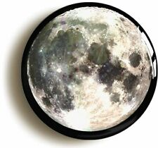 FULL MOON BADGE BUTTON PIN (Size is 1inch/25mm diameter) SPACE SCIENCE GEEK
