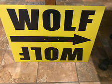 Movie Set Movie Prop Direction Sign for the movie Wolfman release date 2017
