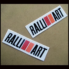 2 x MITSUBISHI RALLI ART Embroidered Iron On Patch F1 Fomular Racing Car EVO