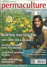 Permaculture magazine Budget off grid DIY solar bike Eco farming Wastewater tips