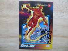 1992 IMPEL MARVEL UNIVERSE 3 HUMAN TORCH CARD SIGNED TERRY AUSTIN ARTWORK