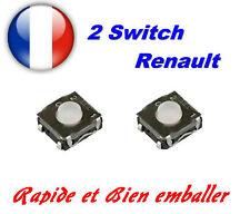 2x Switch bouton pour télécommande clé plip renault modus clio twingo laguna