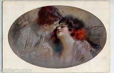 GUERZONI The Kiss Il Bacio Glamour Girl Romance Donnina PC Circa 1915