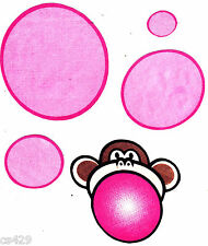 "4"" BOBBY JACK MONKEY BURST MY BUBBLE CHARACTER WALL SAFE FABRIC DECAL CUT OUT"