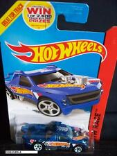 HOT WHEELS 2014 #143 -1 FIG RIG BLUE AMER HW RACE