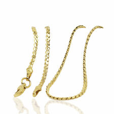 18 k Gold Plated Snake Chain Lady Necklace for Women Chain 1 mm width N423