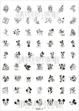 Nail Art Stamping Image Template XL Large Plate - Cartoon *** DNS-1 NEW ***