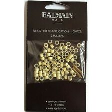 Re Application Rings for Hair Extensions 100pcs 2 Pullers BEIGE by Balmain